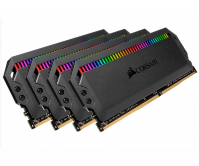 Пам'ять Corsair 64 GB (4x16GB) DDR4 3200 MHz Dominator PLATINUM RGB (CMT64GX4M4C3200C16)