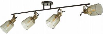 Світильник спотовий Brille LK-687C/4 E27 AB/BK (24-424)