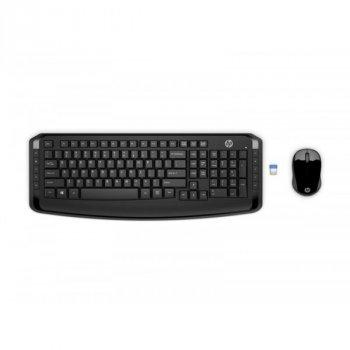 Комплект (клавіатура, миша) бездротовий HP 300 (3ML04AA) Black USB