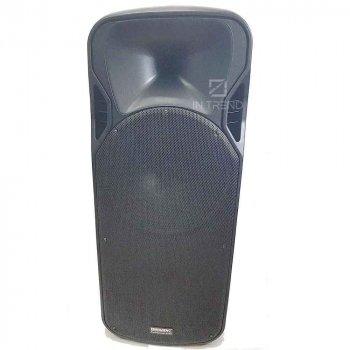 Професійна бездротова блютуз колонка A 15-15 Bluetooth акумуляторна з пультом д/у управління і 2ма + TF Card + AUX + Jack 6.3 микофонами для вулиці і будинки - Музична USB переносна система на коліщатках під флешку, Чорна