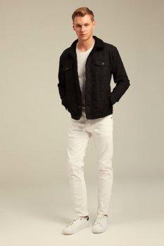 Джинсова куртка з хутром uwest чорна