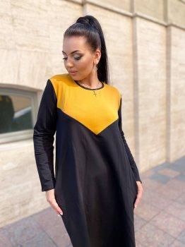 Плаття DNKA р15288 Чорне з гірчичним