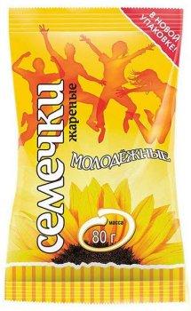 Упаковка насіння соняшнику смаженого Мартин Молодіжне 80 г х 50 шт. (4814069000224)