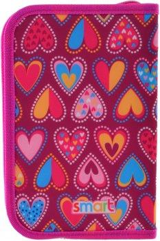 Пенал Smart Hearts Style твердый одинарный без клапана 1 отделение Разноцветный (532049)