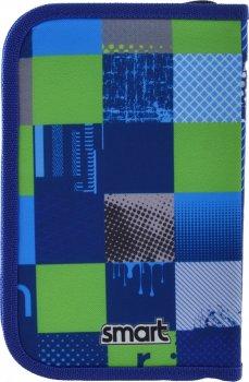 Пенал Smart Smart Style твердий одинарний з двома клапанами 1 відділення Синій із зеленим (532089)
