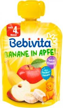 Упаковка фруктового пюре Bebivita Яблуко-банан з 4 місяців 90 г х 16 шт. (4018852018544_4018852021445)