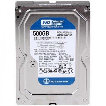 Накопичувач HDD SATA 500GB WD Blue (WD5000AAKX) Refurbished