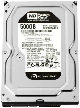Накопичувач HDD SATA 500GB WD Caviar Black (WD5001AALS) Refurbished