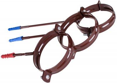 Кронштейн для водостічної труби Profil металевий L160 130 Коричневий (5906775630228)