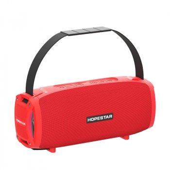 Портативна колонка Hopestar H24 pro музична акустична Bluetooth з гучним звуком і вологозахист IPX6 - Переносна USB система з вбудованим мікрофоном + потужний гучномовець - карта пам'яті micro SD + TWS + FM-радіо, Червоний