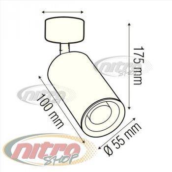 Світильник Спот світлодіодний/галогенний настінний стельовий Horoz Electric LOZAN макс. 50Вт 220В MR16/GU10 Білий (016-001-0001)