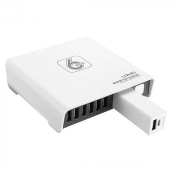 Сетевое зарядное устройство, удлинитель LDNIO A6802 6 USB 8A + Powerbank 2600mAh 1,5м White