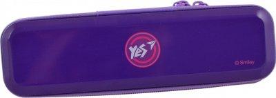 Пенал Yes Smiley world металевий 1 відділення Фіолетовий (532262)