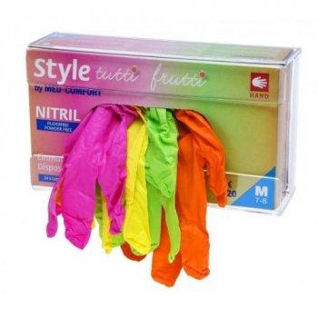 Одноразові рукавички нестерильні нітрилові без пудри Ampri 96 шт в упаковці Розмір M тутті фрутті