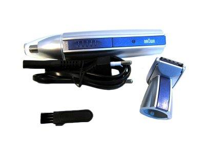 Триммер для стрижки волосся Brown mp-300 модель 2 в 1, trimmer для носа вух бороди (1000186-Gray-0)