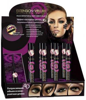 Упаковка туші для вій Eveline Extension Volume Professional Make-Up Об'єм і подовження 10 мл х 12 шт. (5907609335999)