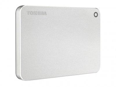 """Зовнішній жорсткий диск HDD 2.5"""" USB 3.0 1TB Toshiba Canvio Premium Silver (HDTW210ES3AA)"""