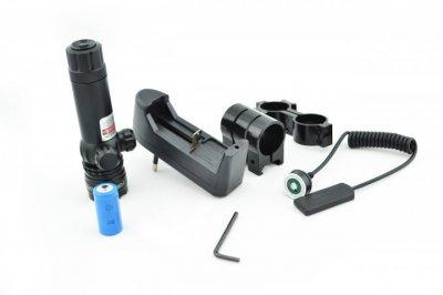 Лазер подствольный с зеленым лучом на оружие и оптику, целеуказатель аккумуляторный (1002858-Black-0)