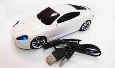 Колонка Porsche Panamera 1081, з фунції радіо, TF-card, USB Біла