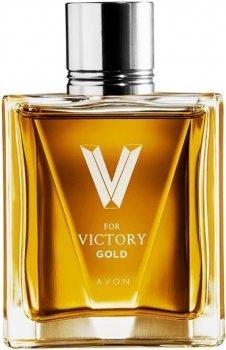 Туалетная вода для мужчин Avon V for Victory Gold для Него 75 мл (1303702)(ROZ6400101994)