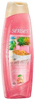 Увлажняющий гель для душа Avon Средиземноморские приключения. Поцелуи солнца с ароматом розового грейпфрута и абрикоса 500 мл (59843)(ROZ6400101524)