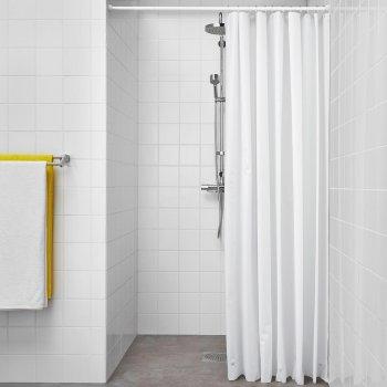 Фіранки для душу IKEA (ІКЕА) Вјагѕеп 180x200 см Біла 604.437.02