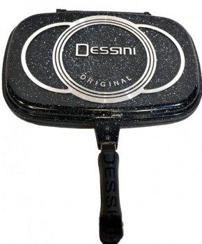 Двухсторонняя сковорода-гриль двойная для гриля и жарки с мраморным покрытием Benson BN-555 36 см Black (par_BN 555)