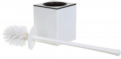 Ёршик для унитаза VANSTORE Куб TL2357W белый
