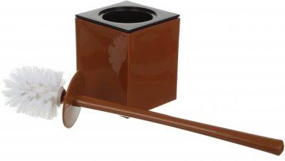 Ёршик для унитаза VANSTORE Куб TL2357 коричневый