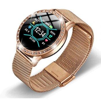 Смарт-годинник Smart M8 Girl Gold з лічильником калорій і крокоміром + Bluetooth 4.0 + частота серцебиття