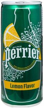 Упаковка минеральной газированной воды с лимоном Perrier Lemon0.25 л х 10 шт (7613036669344_7613036669351)