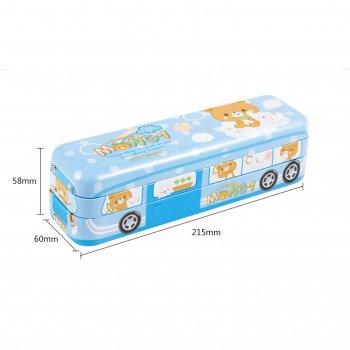 Пенал-машина шкільний Автобус Nest Блакитний арт 36514