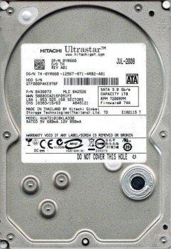 Жесткий диск Hitachi Ultrastar 1TB 7200rpm 32MB A7K1000 HUA721010KLA330 SATAII