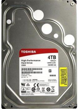 "Жорсткий диск (HDD) Toshiba X300 4TB 3.5"" 7200rpm 128MB SATA III (HDWE140UZSVA)"