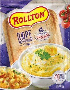 Упаковка пюре картопляного Rollton зі смаженою цибулею 40 г х 24 шт. (4820179254105)
