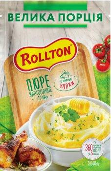 Упаковка пюре Rollton картопляне зі смаком курки 60 г х 20 шт. (4820179254952)