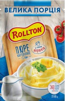 Упаковка пюре Rollton картопляне зі смаком вершків 60 г х 20 шт. (4820179254969)