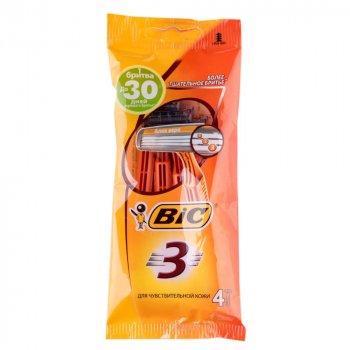 Набор бритв без сменных картриджей BIC Sensitive 3 4 шт