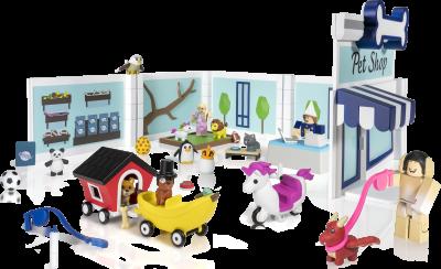 Игровая коллекционная фигурка Jazwares Roblox Deluxe Playset Adopt Me: Pet Store W6 (ROG0177)
