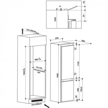 Холодильник встраиваемый Whirlpool - ART 9814 A+SF