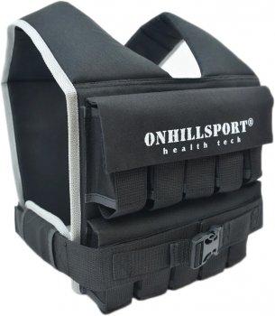 Жилет обважнювальний Onhillsport Runner 1-20 кг з вантажами 20 шт. х 1 кг Чорний (ZT-0202)