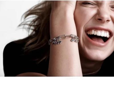 Серебряная браслет-цепочка Пандора ME 598373