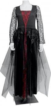 Платье Seta Decor Готическая королева 17-818BLK-CLT S-M Бордовое с черным (2000045796010)