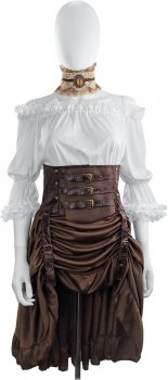Костюм Seta Decor Пиратка steampunk 21-502 S-M Белый с коричневым (2000049008010)
