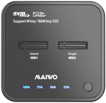 Док-станція Maiwo для M.2 SSD NVMe (PCIe) Key M/B+M USB 3.1 Gen2 Type-C (K3016P)
