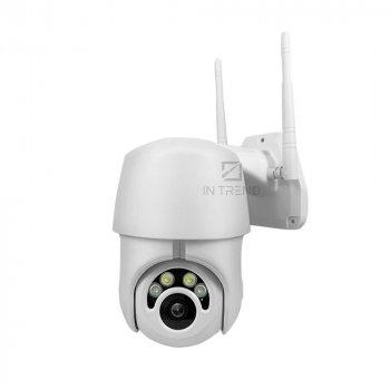 Камера видеонаблюдения EC76U15 IP Камера WiFi Наружного наблюдения - Беспроводная Цифровая уличная Видеокамера с MicroSD водонепроницаемая с режимом ночного видения и ИК-подсветкой - Круглосуточное видеонаблюдение, - Белая
