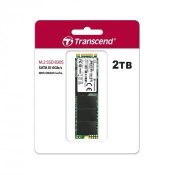 SSD накопитель TRANSCEND MTS830S 2TB M.2 SATA 3D TLC (TS2TMTS830S)