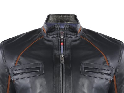 Кожаная куртка GIORGIO DI MARE Синий (GI764767)