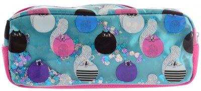 Пенал Yes Sly Cat мягкий 1 отделение Розовый с голубым (532385)
