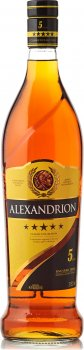 Крепкий алкогольный напиток Alexandrion 5* 1 л 37.5% (5942122000276)